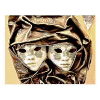 Venetian Carnival Masks Postcard