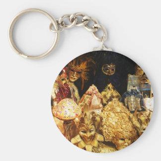 Venetian Carnival Masks - Venice, Italy Key Chain