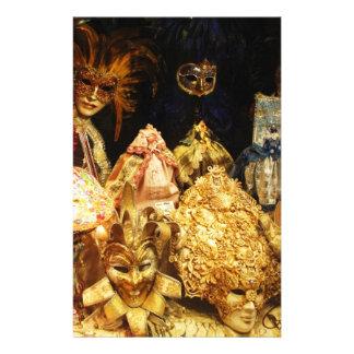 Venetian Carnival Masks - Venice, Italy Stationery