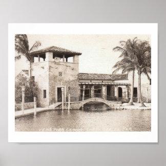 Venetian Casino, Coral Gables, Florida Vintage Poster
