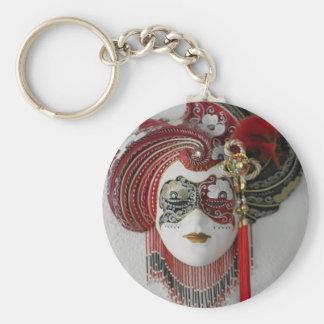 Venetian Ceramic Mask Key Chains