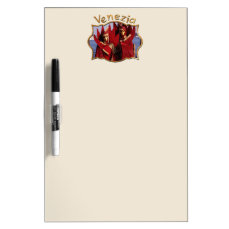 Venetian Couple In Red Carnival Costumes Dry-Erase Board