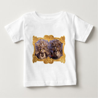 Venetian Couple With Golden Carnival Costumes Baby T-Shirt