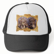 Venetian Couple With Golden Carnival Costumes Trucker Hat