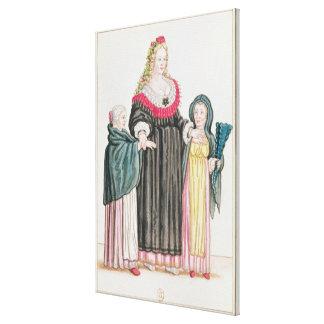 Venetian Courtesan Canvas Print