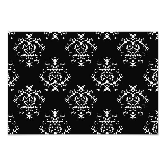 Venetian Damask, Ornaments, Swirls - Black White Photo Print
