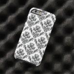 Venetian Damask, Ornaments, Swirls - Black White Tough iPhone 6 Case