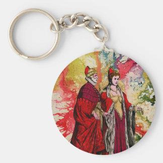 Venetian Doge and Dogeressa by Michael Moffa Basic Round Button Keychain