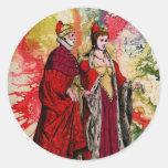 Venetian Doge and Dogeressa by Michael Moffa Round Sticker