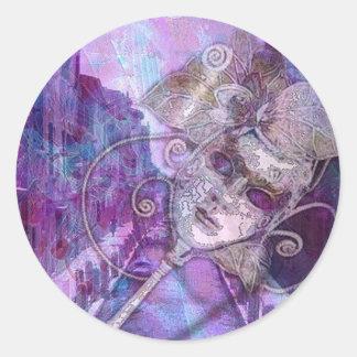 Venetian Fantasy Round Sticker
