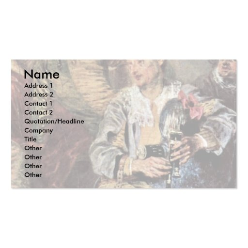 Venetian Festival (Fêtes Vénitienne) Detail Double-Sided Standard Business Cards (Pack Of 100)
