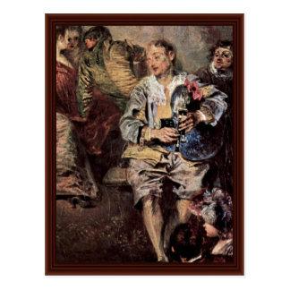 Venetian Festival (Fêtes Vénitienne) Detail Postcard