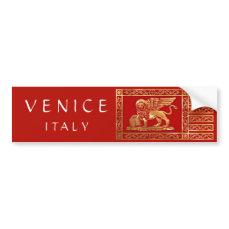 Venetian Flag Bumper Sticker