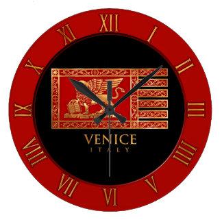 Venetian Flag Large Clock