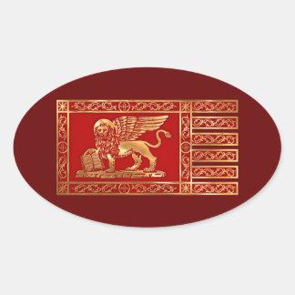 Venetian Flag Oval Sticker