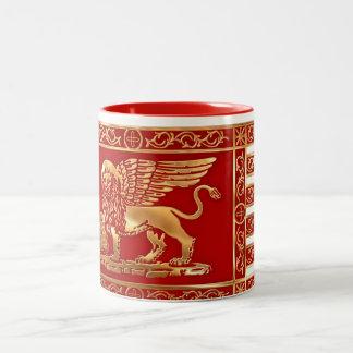 Venetian Flag Two-Tone Coffee Mug