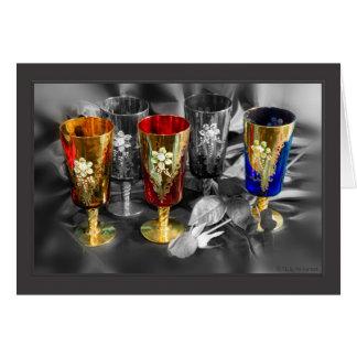 Venetian Glasses Card