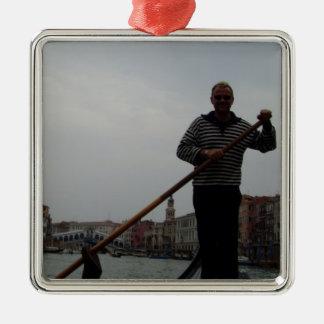 Venetian Gondalier Metal Ornament