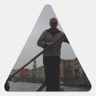 Venetian Gondalier Triangle Sticker