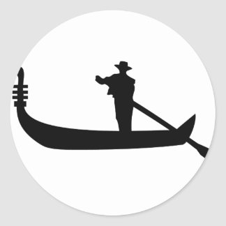 venetian gondola classic round sticker