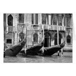 Venetian Gondolas Card Greeting Card