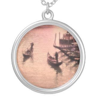 Venetian Gondolas. Dreamy Mode.Necklace Round Pendant Necklace