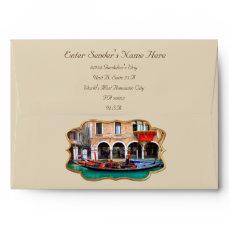 Venetian Gondolas Envelope