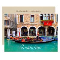 Venetian Gondolas Invitation