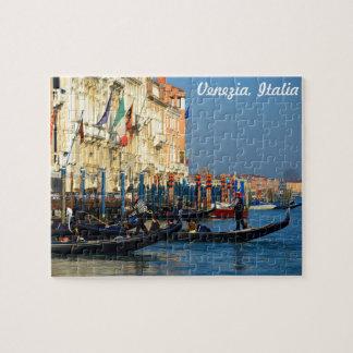 Venetian Gondolas on Grand Canal Jigsaw Puzzle