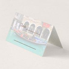 Venetian Gondolas Place Card