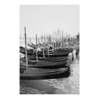 Venetian Gondolas - Poster