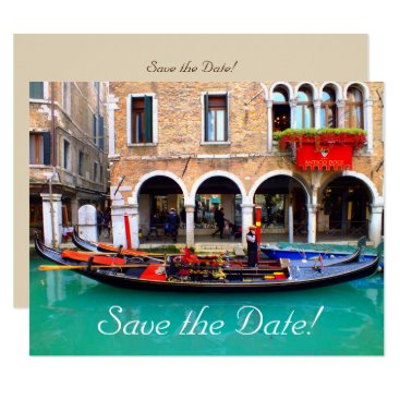 USA Themed Venetian Gondolas Save-the-Date Cards