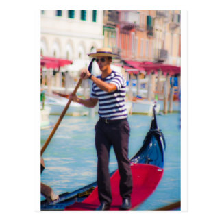 Venetian Gondolier Postcard