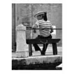 Venetian Gondolier Postcard Postcards