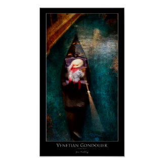 Venetian Gondolier Poster