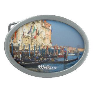Venetian Gondoliers on Canal Grande Belt Buckle
