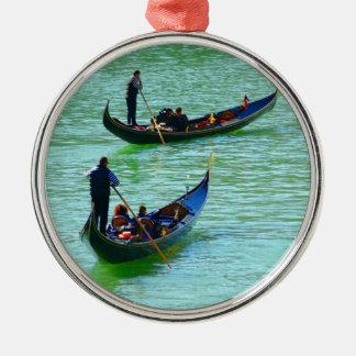 Venetian gondoliers christmas ornament