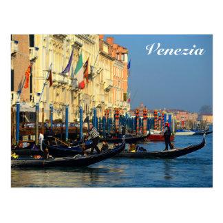 Venetian gondoliers postcard