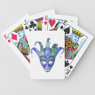 Venetian Jester Carnival Mask Bicycle Playing Cards