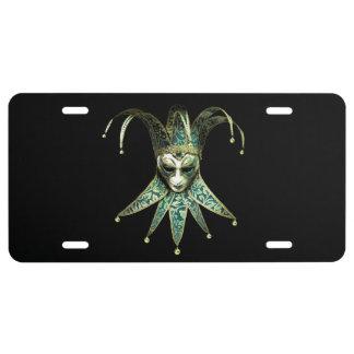 Venetian Joker Mask License Plate