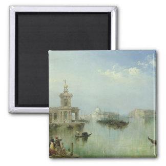 Venetian Lagoon 2 Inch Square Magnet