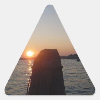 Venetian Lagoon Triangle Sticker