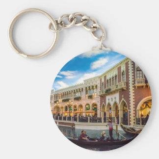 Venetian Las Vegas Gondola Canal Architecture Basic Round Button Keychain
