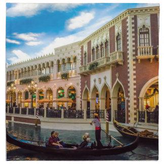 Venetian Las Vegas Gondola Canal Architecture Napkin