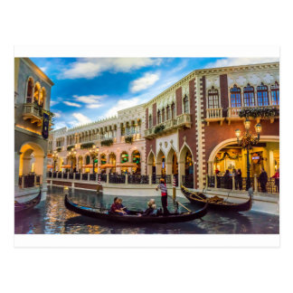 Venetian Las Vegas Gondola Canal Architecture Postcard