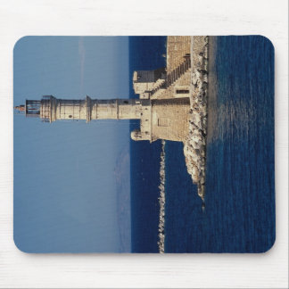 Venetian lighthouse, Xania, Crete, Greece Mousepad