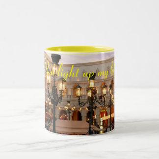 Venetian lights Two-Tone coffee mug