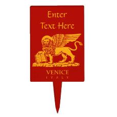 Venetian Lion Cake Topper