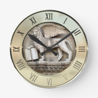 Venetian Lion Round Clock