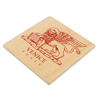 Venetian Lion Wooden Coaster